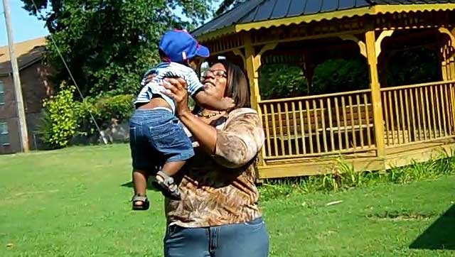 Tammy and her son at Fayette Cares' Shelter