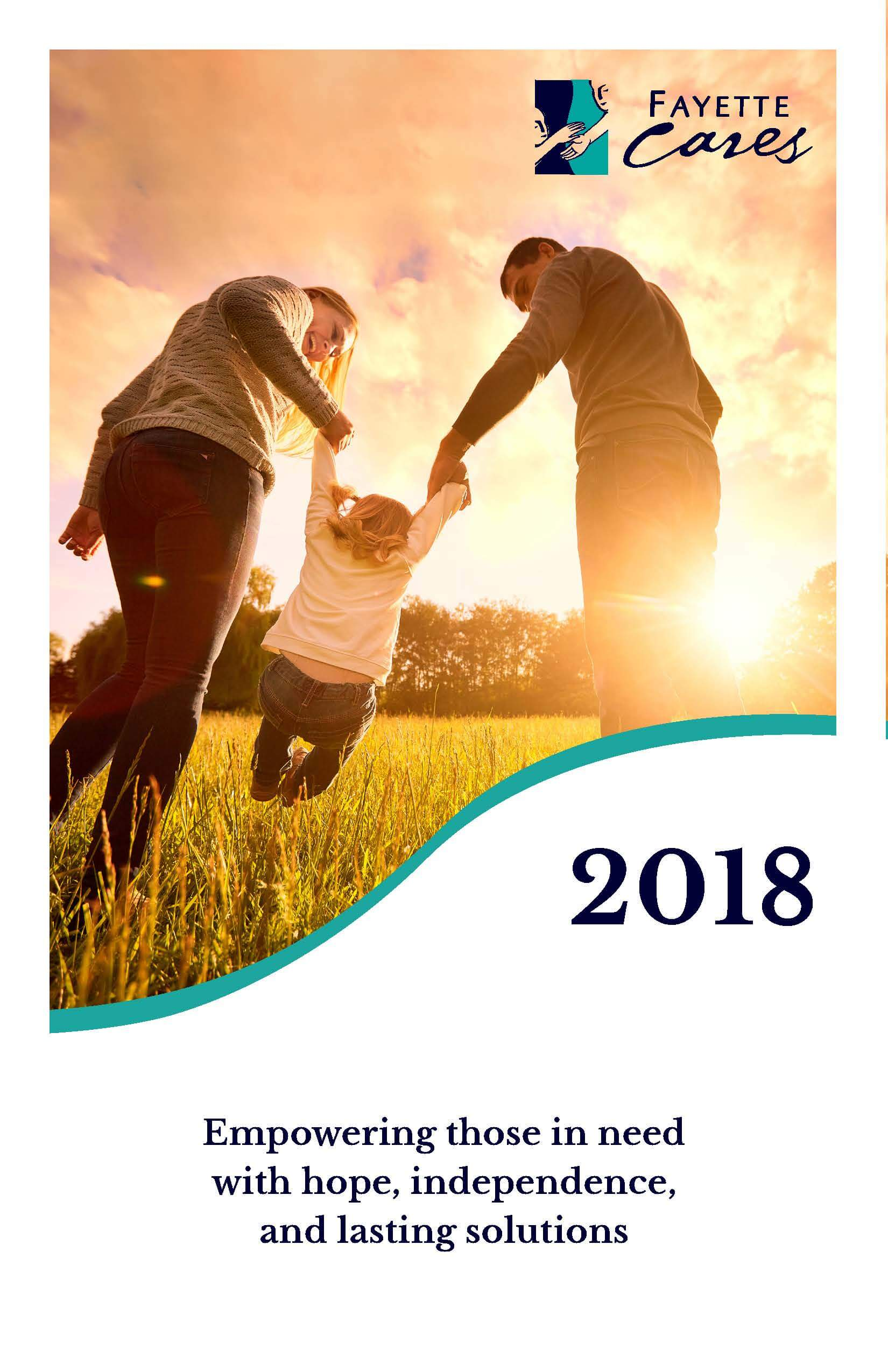 2018 Fayette Cares Annual Report Cover Image